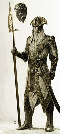 Concept Art of a Mirkwood elven guard