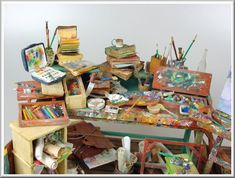 1/12 scale - miniature artist's studio