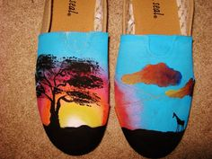 Hand Painted Shoes on Etsy, $115.00