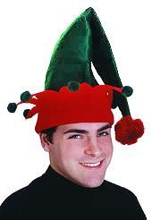 Adult Green -amp Red Elf Hat. From #Rubie's Costume Co. Price: $9.99