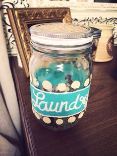 Laundry quarter jar