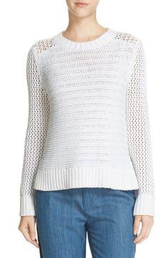 rag & bone amelie open knit cotton sweater