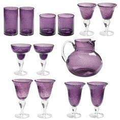 Deluxe Bubble Purple Glasses Sets