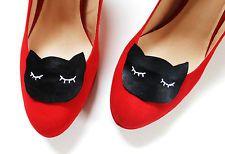 Statement Schmuck Schuhe Schuhschmuck Clips Schwarz Weiß Katze Katzen Clip Sweet Pumps Deko