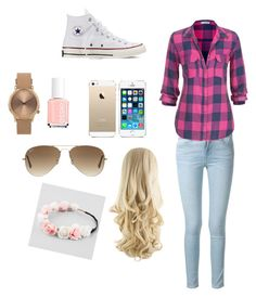 """""""Untitled #81"""" by kcpaige8 ❤ liked on Polyvore featuring beauty, Frame Denim, maurices, Converse, FingerPrint Jewellry, Essie, Ray-Ban, Full Tilt and Topshop"""