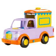 Dora Travel And Care Trailer This Dora Travel and care trailer allows Dora to take all of her pony friends for a ride using her trailer and pick up truck. Includes truck, trailer baby pony and comb. http://www.comparestoreprices.co.uk/childs-toys/dora-travel-and-care-trailer.asp