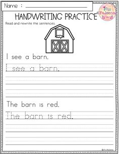 Awesome Practice Handwriting Worksheets For Grade that you must know, Youre in good company if you?re looking for Practice Handwriting Worksheets For Grade 1st Grade Writing Worksheets, Handwriting Worksheets For Kindergarten, Printable Handwriting Worksheets, Kindergarten Writing, Handwriting Practice Free, Penmanship Practice, Sentence Writing, Phonics, Alphabet Letters