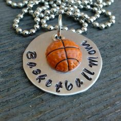 Basketball Mom Necklace by tagsandthingsbyk on Etsy, $20.00