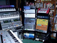 My old studio in 2003 Home Studio Setup, Studio Layout, Studio Equipment, Studio Gear, Computer Music, Hammond Organ, Recording Studio Design, Winning The Lottery, Music Production