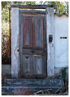And all that was left was this door...Agde-France by Nells Photography, via Flickr