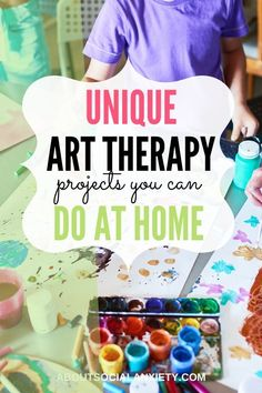 Are you feeling anxious? Learn how art therapy for anxiety can help you express emotions and connect with others while creating art. Cold Home Remedies, Cough Remedies, Natural Home Remedies, Herbal Remedies, Anxiety Therapy, Anxiety Tips, Social Anxiety, Art Therapy Projects, Art Therapy Activities