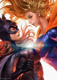 The Very Best of Women in Comics — Two-fer Tuesday: Batgirl & Supergirl by kamiyamark Marvel Dc Comics, Anime Comics, Heros Comics, Comic Manga, Dc Comics Art, Dc Heroes, Marvel Art, Batwoman, Dc Batgirl