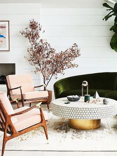 #2018DesignTrends, #2018InteriorDesignTrends, Vivid Velvet -- This Expensive Looking Interiors Trend Is Here to Stay via @MyDomaineAU