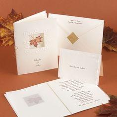Autumn Splendor - Invitation