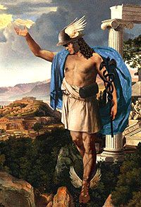 the greek god of messages