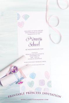 Confetti Sunshine: princess scroll invitations