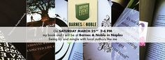"""On Saturday, March 25th 2-4PM my #book, """"What's in the Way of your #Happiness"""", and I will be at #BarnesAndNoble in #Naples. Swing by and mingle with local authors like me."""