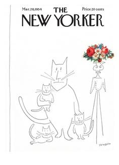 Copertina - The New Yorker - 20 marzo 1954 (Saul Steinberg)