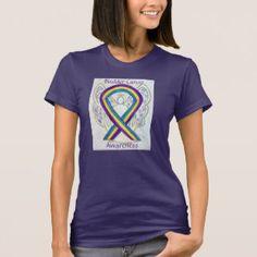 Bladder Cancer Awareness Ribbon Angel Art Shirt