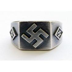 Silver Rings of The Third Reich - German rings and other Militaria awards Nagasaki, Hiroshima, Fukushima, Badges, Infinite Art, Nazi Propaganda, Skull Jewelry, Jewlery, Germany