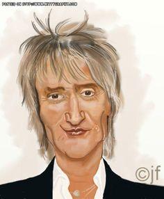 Rod Stewart by cartoonman