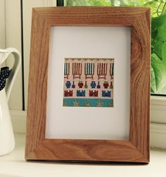 Contemporary and Colourful Cross Stitch Designs by MeadowCrossStitch Cross Stitch Kits, Cross Stitch Designs, Etsy Seller, Unique Jewelry, Handmade Gifts, Contemporary, Frame, Beach, Color