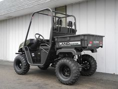 This American SportWorks Landmaster LM400 side-by-side UTV is equipped with a 390cc Honda gas engine, locking differential, green body, and 400 lb-capacity rear dump bed for just $5190. See more at: http://www.powerequipmentsolutions.com/products-a-services/online-store/utvs-and-atvs-new-a-used/american-sportworks/1056-american-sportworks-landmaster-lm400-green.html  #AmericanSportWorks #Landmaster #LM400 #sidebyside #UTV #ATV #offroad #forsale #madeinUSA #PES #Vandalia