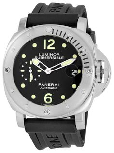 Panerai Men's M00024 Luminor Submersible Black Dial Watch #watches #menswatches #mensfashion #largewatches