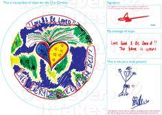 Singer Estelle's original Symbol of Hope for the 21st Century artwork for: http://www.whateverittakes.org