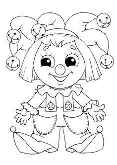 Free printable Dolls coloring pages. Select one of 1000 printable Coloring pages of the category for girls. Coloring Pages For Girls, Colouring Pics, Coloring Pages To Print, Coloring Book Pages, Coloring For Kids, Printable Coloring Pages, Coloring Sheets, Clowns, Image Cinema