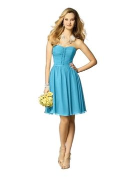 Long Sleeveless V-Neck Mesh Bridesmaid Dress with Belt - Malibu ...