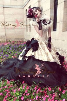 Wedding Dress Fantasy - Gothic Wedding Dress Available in Every Color