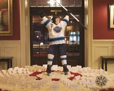 Custom Designed Hockey Player for Bar Mitzvah Card Table Bar Mitzvah Centerpieces, Your Design, Custom Design, Table Cards, Bat Mitzvah, Custom Made, Party Themes, Lifestyle, Hockey