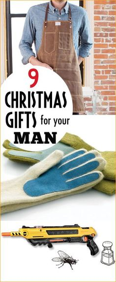 9 Christmas Gifts for your Man.  Gift something he'll enjoy and actually use.  Homemade Christmas gifts for a husband, boyfriend or son.