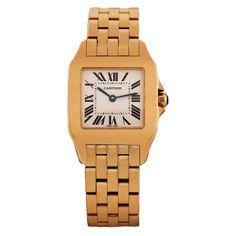 1stdibs | CARTIER Lady's Yellow Gold Santos Demoiselle Wristwatch