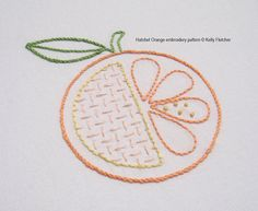 Hatchet Orange hand embroidery pattern by KFNeedleworkDesign, $3.00