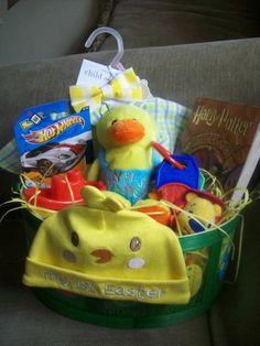 Baby's first Easter basket! (Love that they gave Harry Potter!)