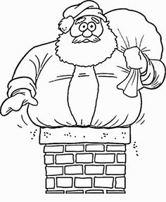 Santa too big Coloring Pages
