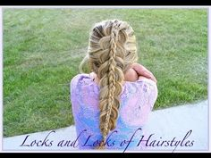 Braided Hairstyles:  Piggyback Dutch French Braid How-to Video Tutorial by LocksofHairstyles