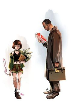 Leon: The Professional - Movie. Jean Reno, Der Pate Poster, Leon Matilda, The Professional Movie, Leon The Professional Mathilda, Mathilda Lando, Illustration Art, Illustrations, Poses References