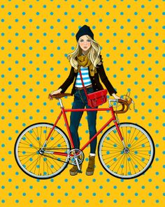 Velo Illustration 009: by Anna Lazareva, Moscow