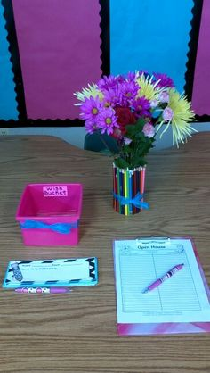 Ideas for Open house back to school night