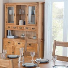 Kitchen Dressers for Sale at Choice Furniture Superstore UK Large Dresser, Oak Dresser, Kitchen Dresser, Large Sideboard, Kitchen Cabinets, Bar Table Sets, Patio Bar Set, Bar Tables, Classic Kitchen Furniture