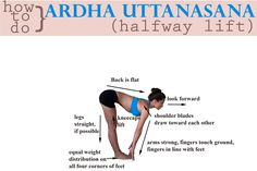 How to do Ardha Uttanasana This is a pose we see over and over again in vinyasa yoga. It is the pose to do if you're working on hamstring flexibility. It's also good for finding length in the back, spine, and between the ribs. Hope these tips help - fee Vinyasa Yoga, Yoga Sequences, Yoga Poses, Yoga Nature, Yoga Teacher Training, My Yoga, Yoga Art, Yoga Benefits, Best Yoga