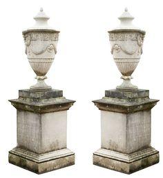 adam style lidded urns