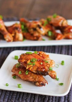 Honey Garlic Chicken Wings and 26 Other Delicious Chicken Recipes Honey Garlic Chicken Wings, Glazed Chicken, Frango Chicken, Sandwiches, Chicken Wing Recipes, Chicken Wraps, Recipe Chicken, Chicken Nuggets, Asian