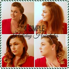 4 Simple Holiday Hairstyles - Step by step tutorials to create gorgeous hair for the holidays! from mommylikewhoa.com #ad #heartmyhair #cbias
