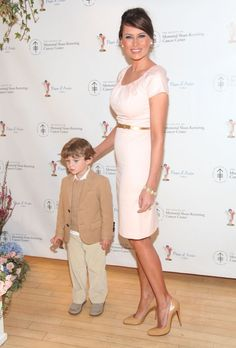 Barron Trump and Melania Trump attend the annual Bunny Hop to benefit the Society of Memorial Sloan-Kettering Cancer Center at FAO Schwartz on March 2009 in New York City. Get premium, high resolution news photos at Getty Images Donald Trump Family, Donald And Melania Trump, First Lady Melania Trump, Trump Melania, Ivanka Trump, Michelle Obama, Look Star, Inauguration Ceremony, She's A Lady