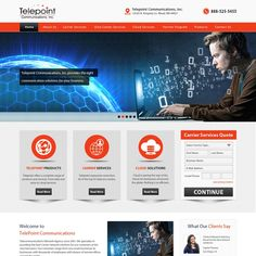 Help Telepoint Communications Upgrade and Remodel their Website by Refine Edge