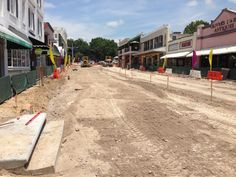 Main Street Mount Dora under construction August 2014